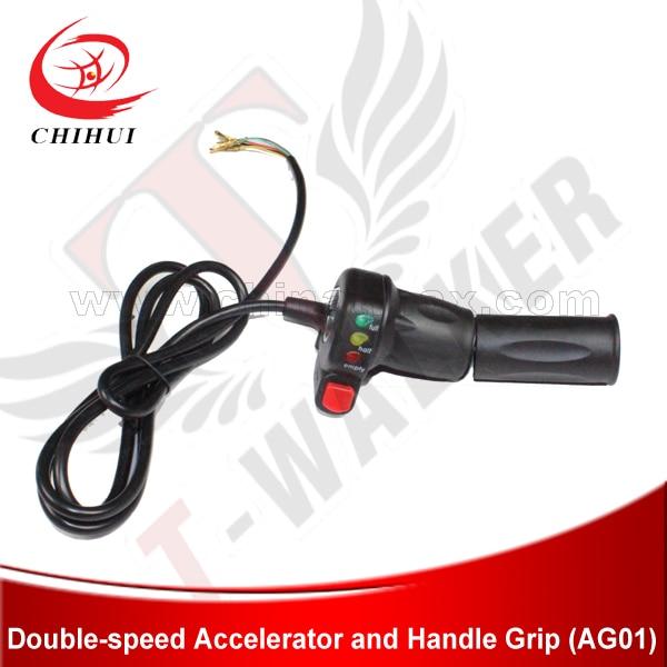 Prix pour 48 V électrique Scooter Throttle poignées WUXING marque électrique Scooter main Twist Throttle avec Ecno - Turbo interrupteur et indicateur de batterie
