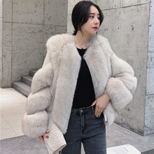 2019 Autumn And Winter New Imported Whole Skin Fox Fur Grass Short Female Coat Fashion Mink Was Thin Party Travel