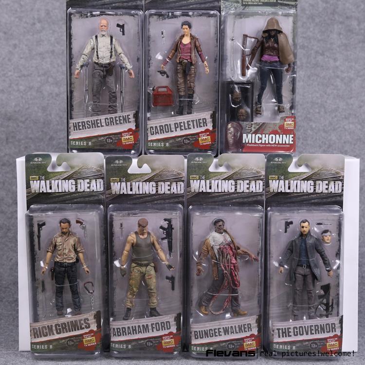AMC TV Series The Walking Dead Abraham Ford Bungee Walker Rick Grimes The Governor Michonne PVC Action Figure Model Toy 7 Styles мегафон amc se116 продам киев