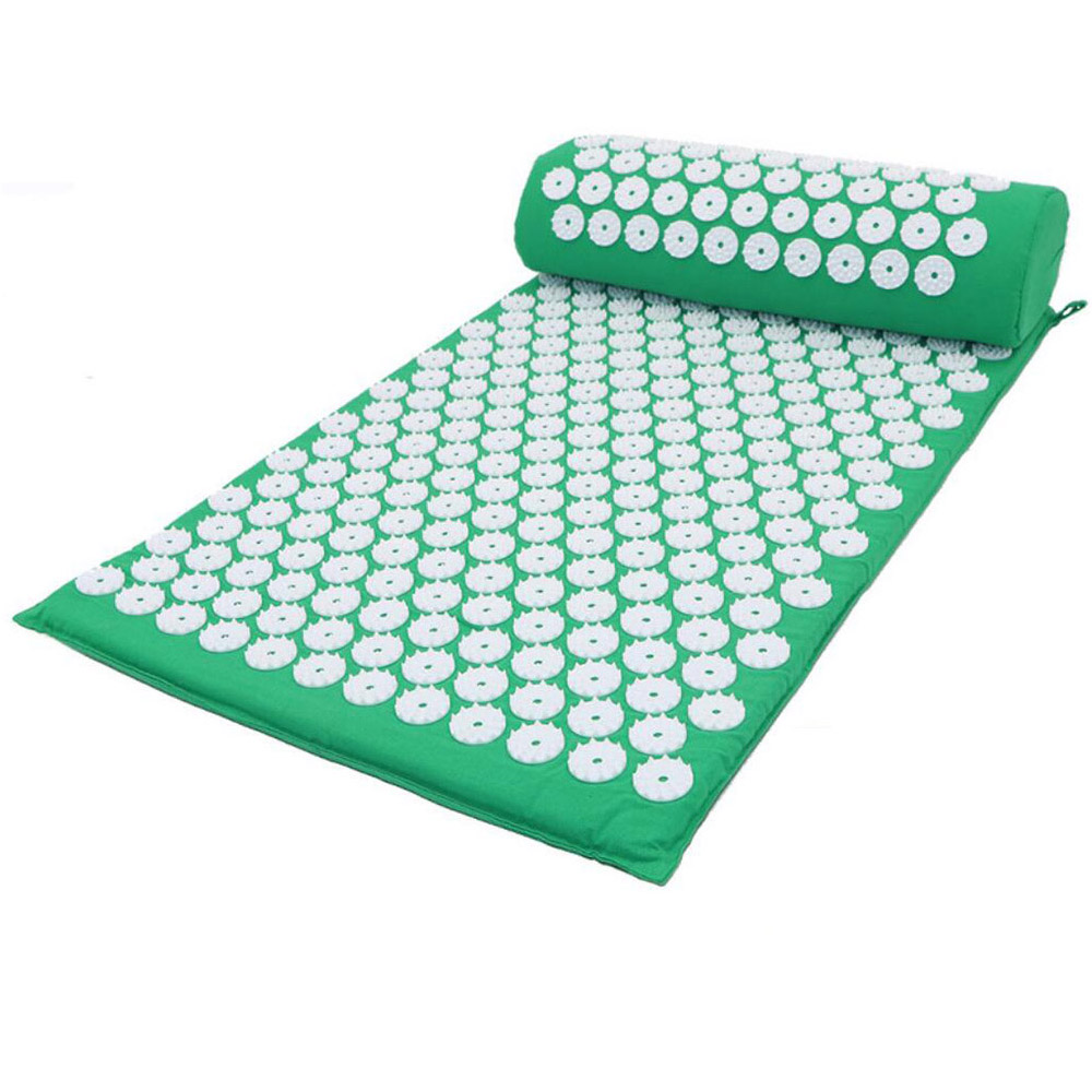 5 ensembles d'acupuncture de coussin de masseur de couleur soulagent le Stress douleur de dos tapis d'acupression/oreiller Massage ABS coussin de Yoga de pointe
