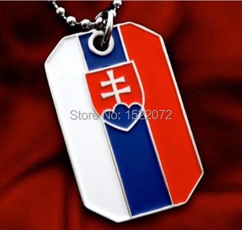 HOT SALES SLOVAKIA FLAG CROSS OF LORRAINE COAT OF ARMS CRAFTS CHEAP personalized flag dog tags