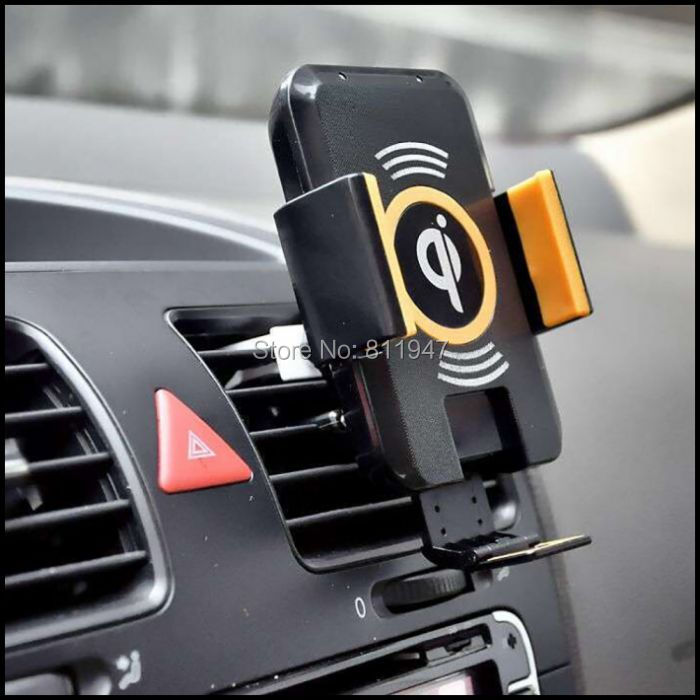 For Samsung S6 Edge Plus Yotaphone 2 Universal Qi Car Holder Wireless Charger For Samsung S7