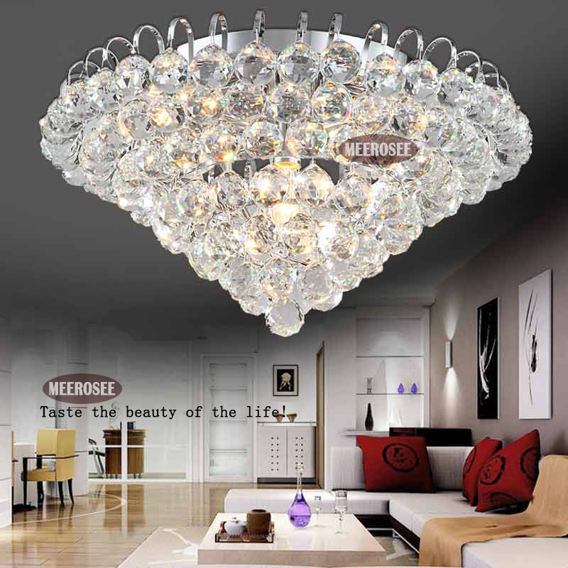 Charming Diamond Design Crystal Ceiling Light Fixture Modern Lustre Crystal Light  Fitting Home Deco Cristal Lamp With Gold/ Silver Color In Ceiling Lights  From ...