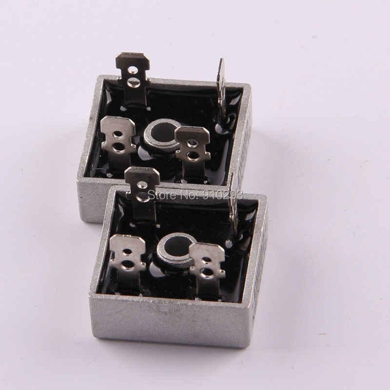 Caja de metal 25A KBPC25 puente rectificador de diodos monofásico 25AMP rectificador de potencia puente rectificador de diodos kit para generador