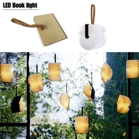 2017 Christmas Gift DHL Free Shipping Wood Turning Books Nightlight USB Rechargeable LED Folding Lamp Book
