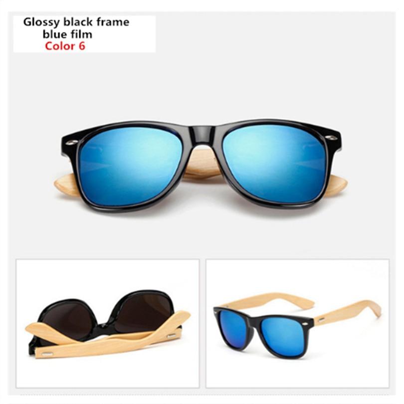 Bamboo Sunglasses Men Women Travel Goggles Sun Glasses Vintage Wooden Leg Eyeglasses Fashion Brand Design Sunglasses Male Female 17