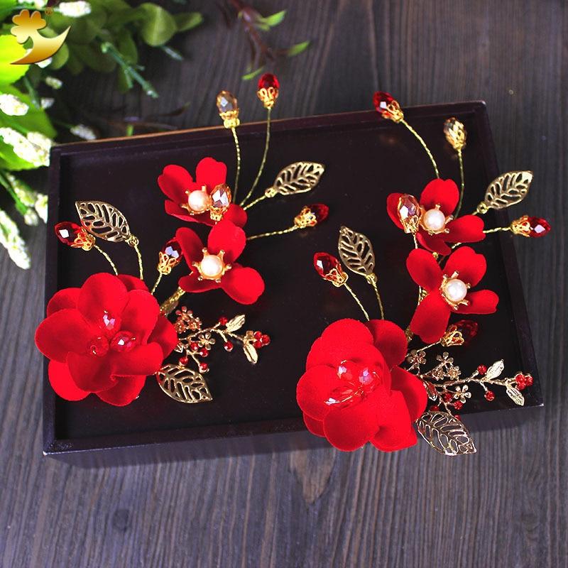 Headdress-Accessories Hair-Ornaments Hair-Clip Bride Wedding-Party Flower Handmade New