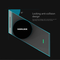 Sherlock S2 Silver Fingerprint + Password Smart Stick Lock Smart Door Lock Bluetooth Wirelless Open or Close Door By APP Control