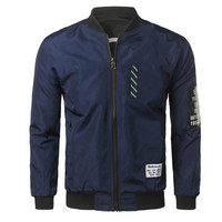 The North Of Mens Coats And Jackets Slim Fit Bomber Jacket Solid Windbreaker Tactical Military Zipper