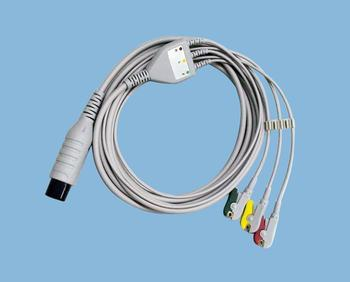 For Mindray Goldway Spacelabs WELCH ALLYN HP Nihon Kohden GE Nellcor ZOLL Colin BCI CSI 6pin ECG Cable 3 Lead One Piece IEC AHA 1