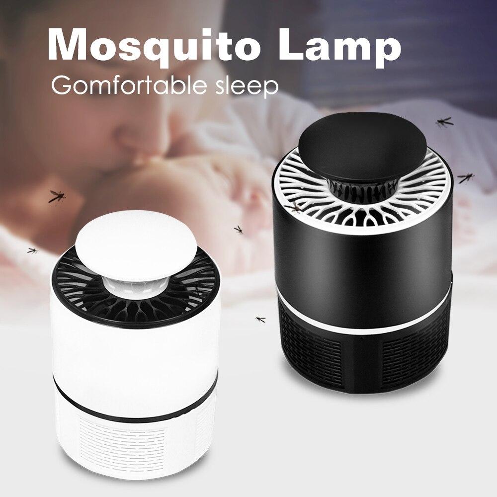 Электрический комаров убийца лампа без излучения комаров убийца Фотокатализ немой домашний светодиодный жучок ловушка для насекомых Zapper л...