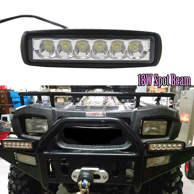 10pcs free shipping 6inch 18w watt motorcycle led headlight spot 10pcs free shipping 6inch 18w watt motorcycle led headlight spot flood beam led light bar motorcycle led driving lights in light barwork light from aloadofball Image collections
