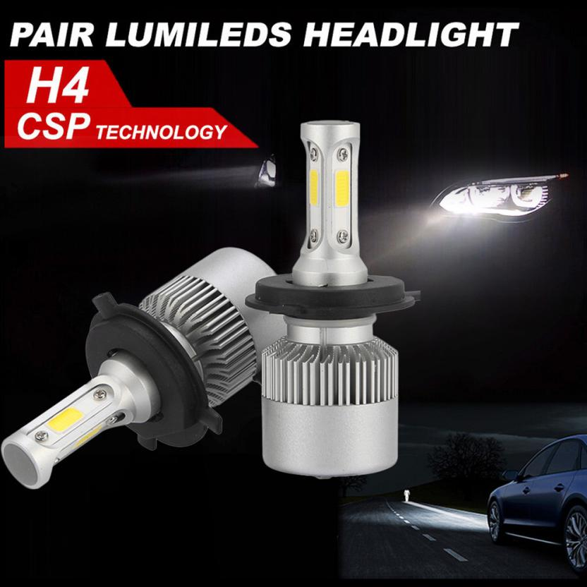 Car styling H4 180W 18000LM LED Headlight KIT HIGH LOW Beam Replace Halogen Xenon Low Vo ...