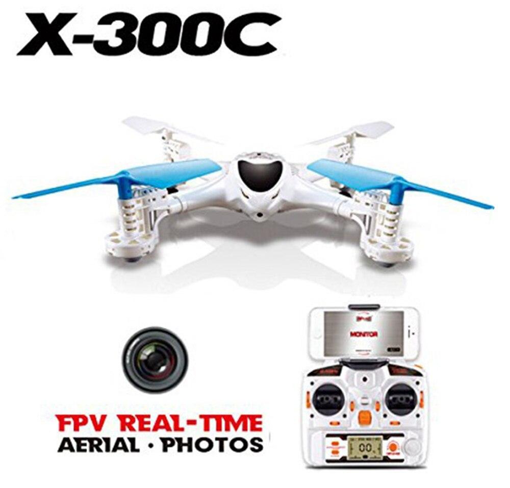 Drone rc wifi fpv X300C 2.4G 6 axes Gyro Mode sans tête hélicoptère RC quadrirotor FPV avec caméra 3d Flips roulant VS X8C H9D X400