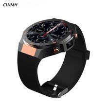 CUJMH H2 android ios 1g + 16 gb SmartWatch relógio Inteligente 1.39 polegada mtk6580 3g wifi GPS do telefone 5 m freqüência cardíaca nano SIM GSM WCDMA