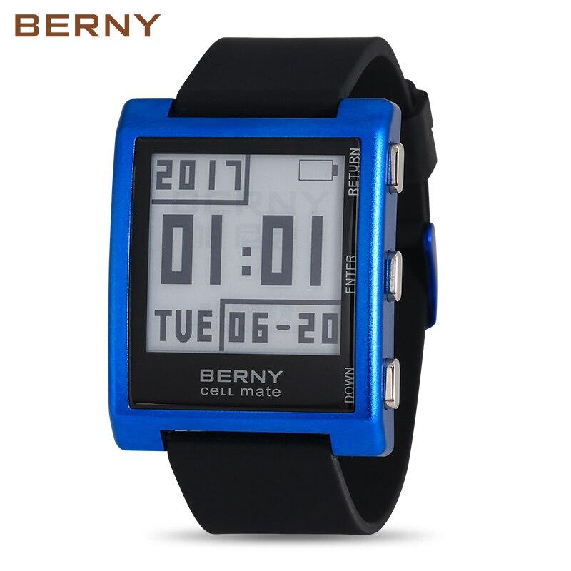 Rol Luxe Digita Horloge Elektronische Inkt reloj hombre Mens Retro Digitale e ink elektronische horloges E003 wk horloge-in Digitale Klokken van Horloges op  Groep 1