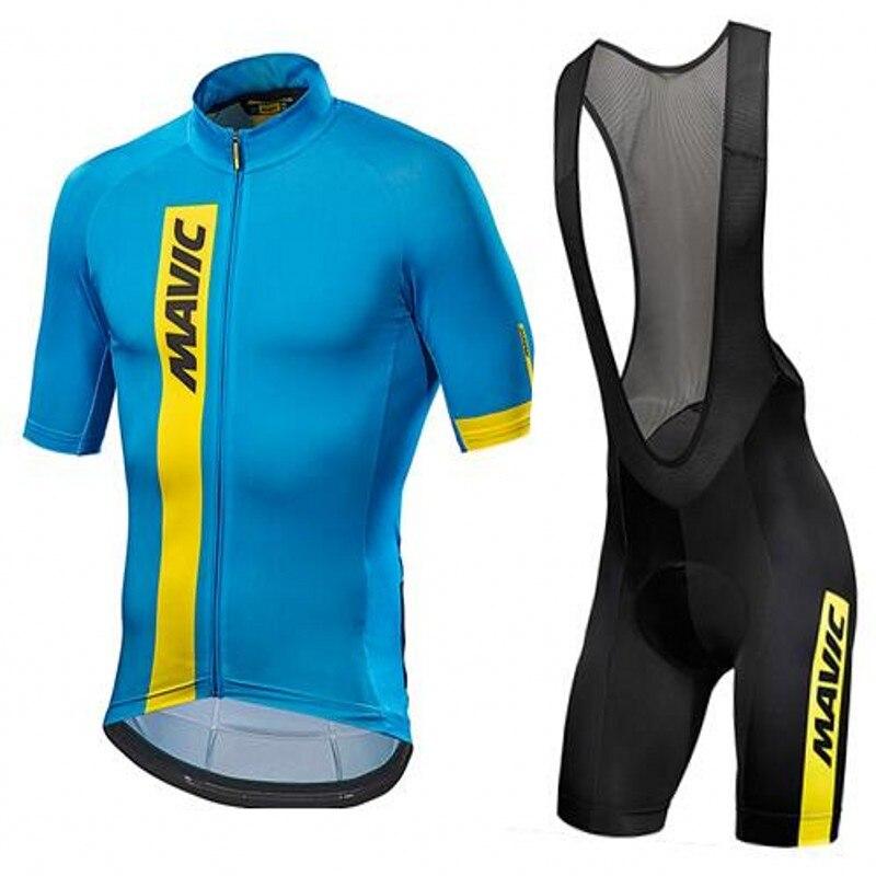 2017 Mavic Quick Dry Kurzarm Radsportbekleidung Atmungsaktive Fahrrad Reitbekleidung Ropa Ciclismo Fahrrad Jersey 9D Gel Pad