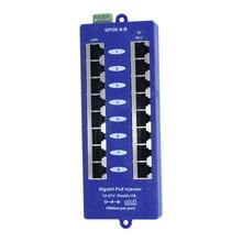 10/100/1000 جيجابت محول تغذية الطاقة عبر شبكة إيثرنت 8 ميناء الطاقة 24v WiFi نقاط الوصول لا تشمل امدادات الطاقة: GPOE 8B