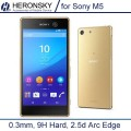 Hot 2pcs/lot 0.3mm One Front One Back Tempered Glass for Sony M5 Xperia M5 Dual 9H High Transparent Protector Film Free shipping