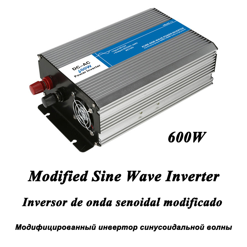 DC-AC 600W Modified Sine Wave Inverter,LED Digital Display,with USB,DC to AC Frequency Converter Voltage Electric Power Supply dc ac 1000w pure sine wave inverter 12v to 220v converters voltage off grid electric power supply led digital display usb china