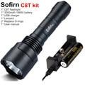 Тактический светодиодный фонарик Sofirn C8T  мощный фонарик 18650 Cree XPL высокой мощности 1310lm  EDC  с аккумулятором 18650
