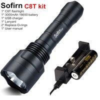 Sofirn C8T Kit Tactical LED Flashlight 18650 Powerful Cree XPL HI High Power EDC Flash Light