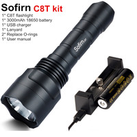 Sofirn C8T Kit Tactical LED Flashlight 18650 Powerful Cree XPL HI High Power EDC Flash Light