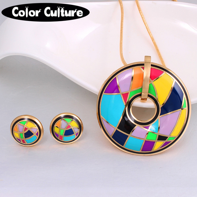Color Design (Necklace, Earring)