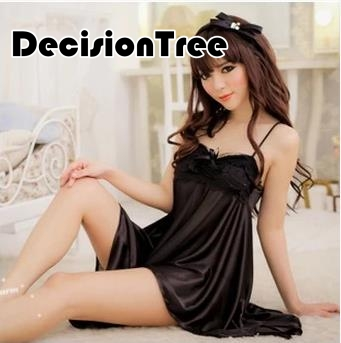 2019 summer Sleepwear Ladies Sexy Lingerie Silk Lace   Nightgown   Nighties Above Knee Nightdress Plus   Sleepshirt   For Women
