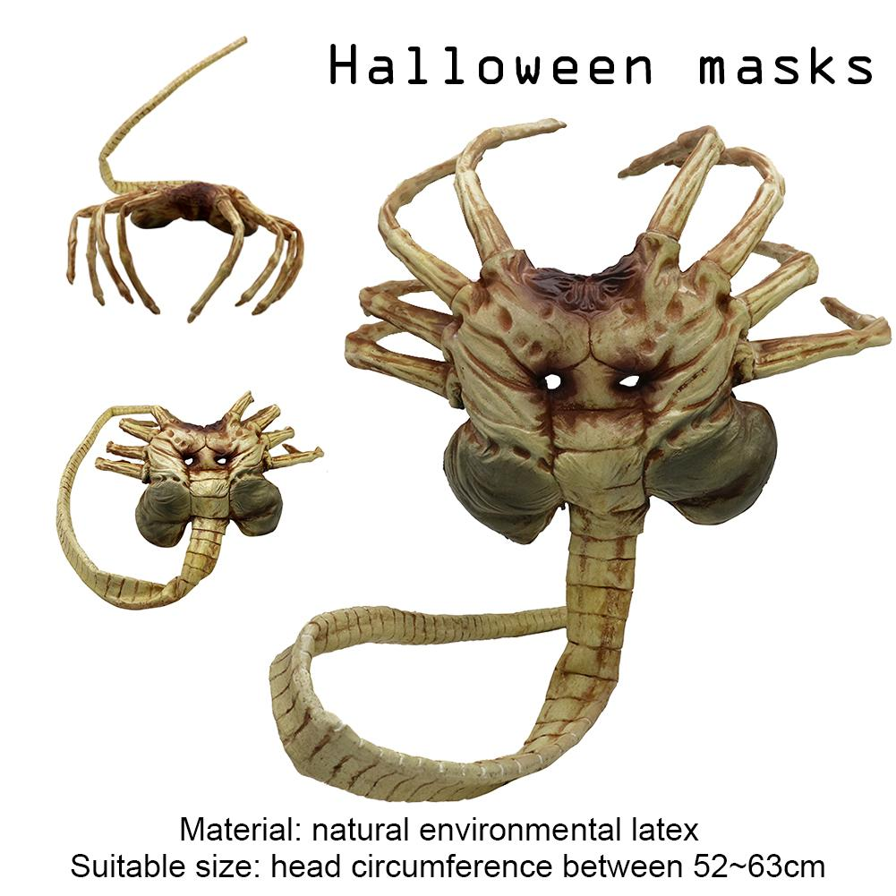 1/1 Alien Contract Worm Model Face Worm Garage Kits Halloween Mask Scary Movies Character Adult Male Cosplay Mask