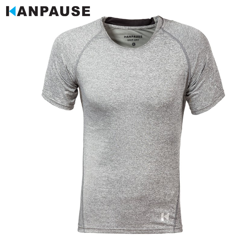 New Arrival KANPAUSE Män Tights T-shirts Kortärmad Kompression Fitness Tränings T-shirt Sportkläder