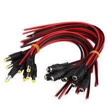 Nueva Llegada 20 Unids 5.5×2.1mm Hombre + Mujer DC Power Jack Socket Conector de Cable 12 V EF may2