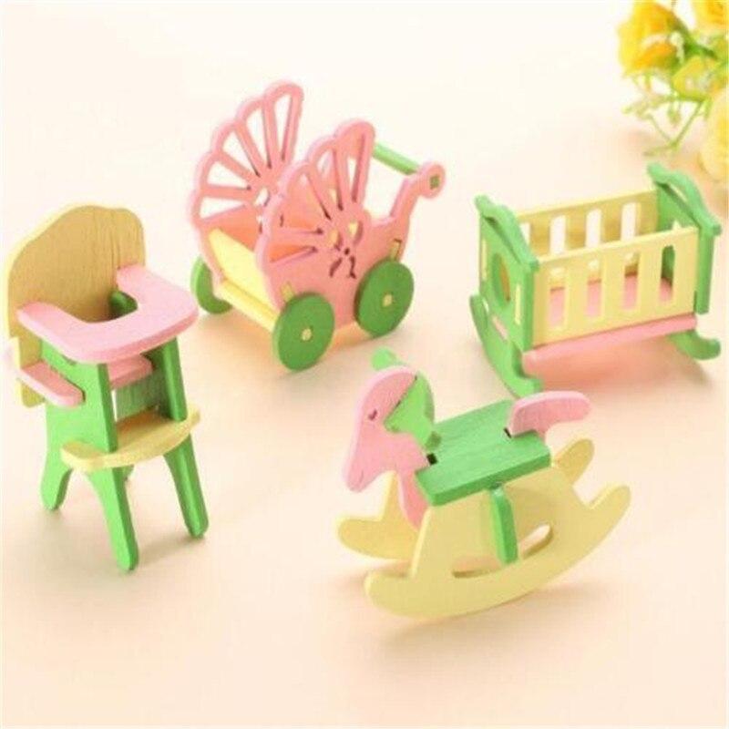 EatingBiting(R) Miniature Dolls House Wooden Baby Nursery Room Furniture Kid Children Play Toys