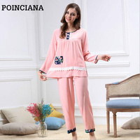 de08ffbcaf59d 2017 Pajama Sets Pijamas De Para Adultos Cute Women s Pyjamas Family Look Schlafanzug  Damen Cottonwoman Sleeping