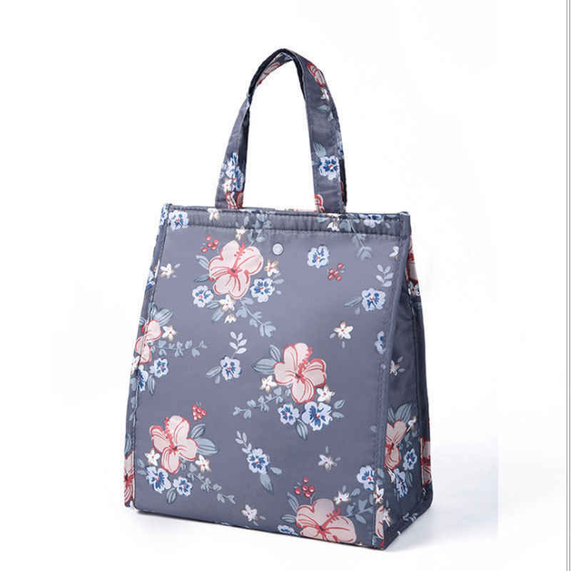Fashion Gaya Unisex Baru Cooler Insulated Oxford Cloth Folding Tas Makan Siang Portabel Piknik Makanan Panas Tote Tas