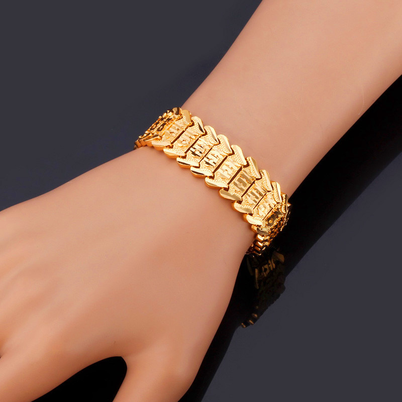 bracelet unique women trendy with for shape product bangle vintage gold stainless steel plated hollow heart design bangles golden