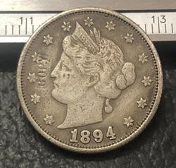 1894 US liberty Nickels Five cent