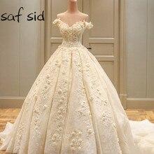 saf sid Luxury Dubai Ball Gown Wedding Dresses Gowns