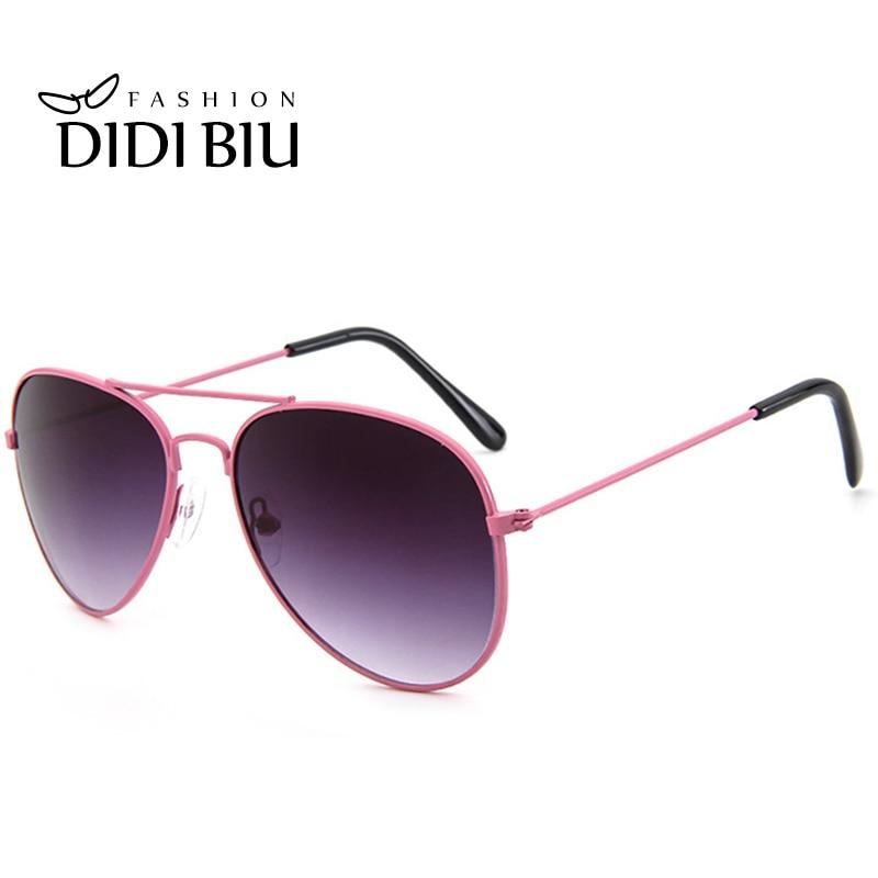 b894c6e05 الاطفال الوردي الطيران عاكسة النظارات الشمسية الطفل التكتيكية العسكرية  سبائك نظارات شمسية الطفل طلاء مرآة الفتيات الفتيان نظارات U328