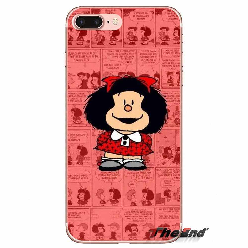 Мультфильм Mafalda Girl Pattern Силиконовый чехол для спортивной камеры Xiao mi 6 mi 6 A1 Max mi x 2 5X 6X Red mi Примечание 5 5A 4X 4A A4 4 3 Plus Pro