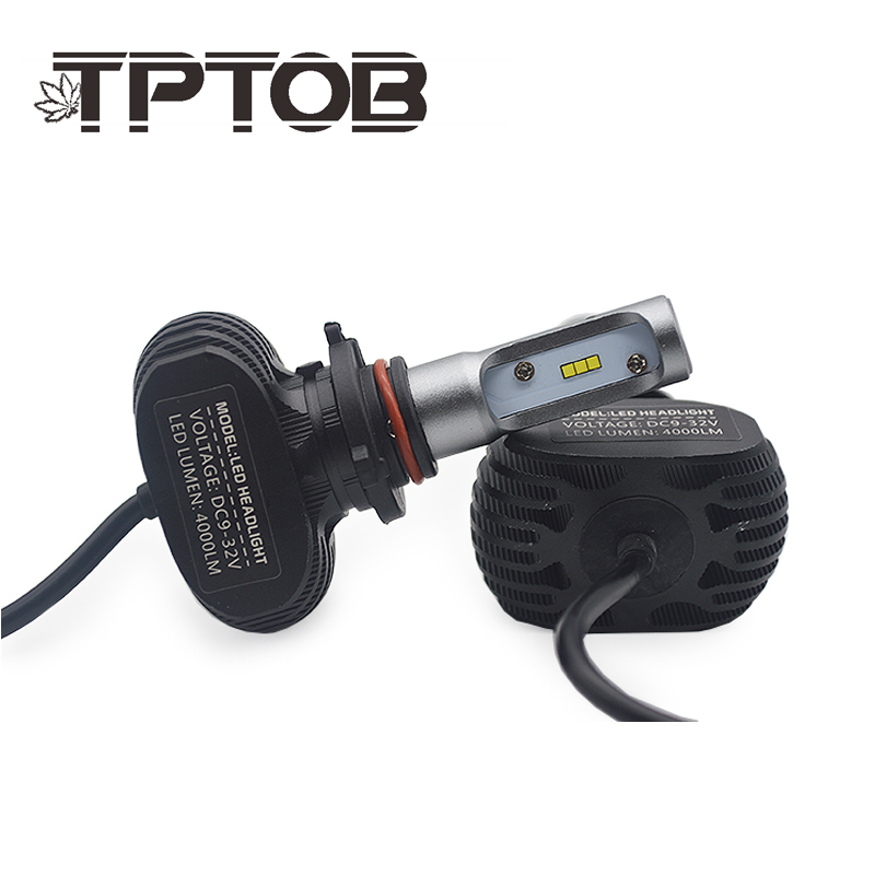 TPTOB 2Pcs 9005 HB3 9006 HB4 H11 H4 H7 Led H1 Auto Car Headlight S1 N1 50W 8000LM 6000K Automobile Bulb All In One CSP Lumileds Стикер