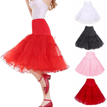 2019 Short Organza Halloween Petticoat Crinoline Vintage Wedding Bridal for Dresses Underskirt Rockabilly Tutu