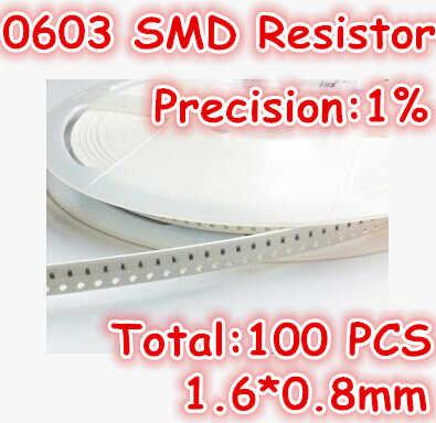 100 cái/lốc 0603 1% 1K5 1.5 K ohm SMD