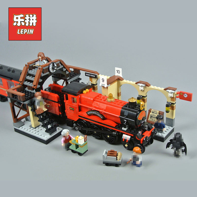Lepin 16055 Harry Movie Potter the Hogwarts Express Train Model Set Compatible 75955 Building Blocks Bricks Legoinglys Kids Toys