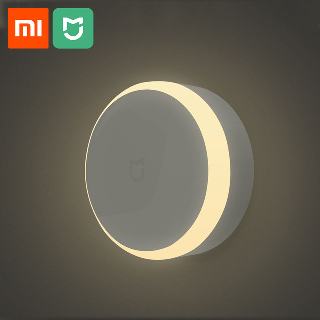 Xiaomi Mijia LED Corridor Night Light Body Motion Sensor For Xiaomi Infrared Remote Control Night Light Smart Home Night Lamp plywood