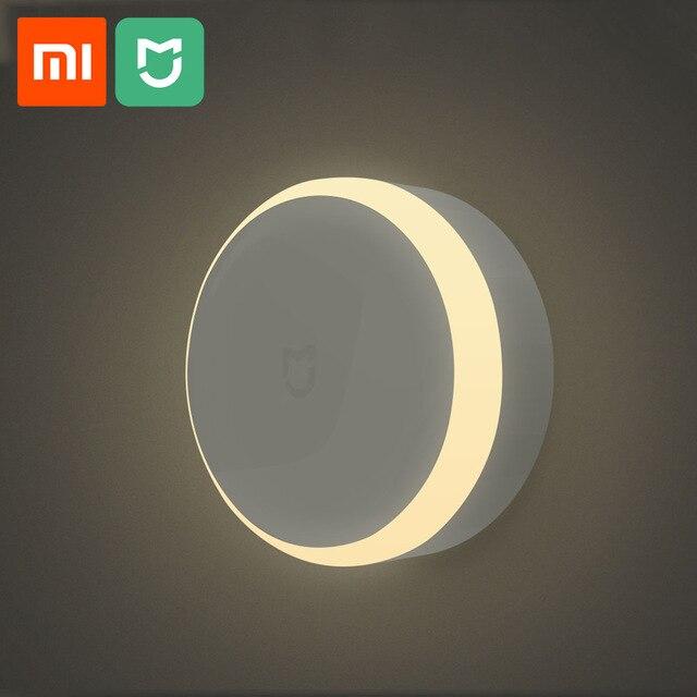 Xiaomi Mijia LED pasillo luz de noche Sensor de movimiento del cuerpo para Xiaomi remoto de infrarrojos de Control de luz de la noche de casa inteligente lámpara de noche