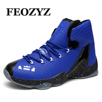 FEOZYZ Kids Women Men Soldier Basketball Shoes Wooden Concrete Floor High Top Basketball Sneakers Shockproof Sport