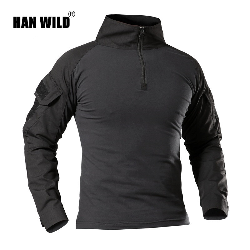 Painstaking Men Military Tactical T-shirt Long Sleeve Swat Soldiers Combat T Shirt Airsoft Clothes Man's Us Army Shirts No Pads Xs-xxxl Buy One Get One Free