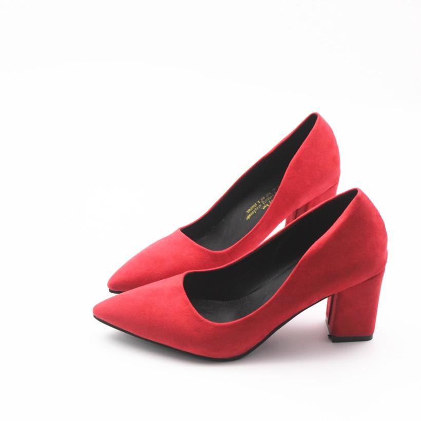 911a249fe Купить Cresfimix Женская мода красный туфли лодочки на высоком каблуке  женские повседневные Черные обувь на каблуке женские весенние и летние без  шнур.