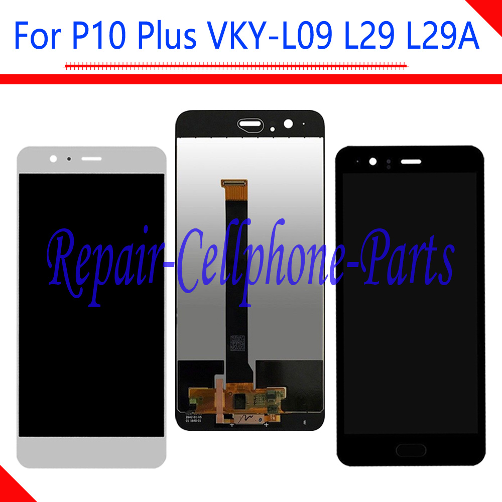 New Black / White Full LCD DIsplay + Touch Screen Digitizer Assembly For Huawei P10 Plus VKY-L09 VKY-L29 VKY-L29A Free ShippingNew Black / White Full LCD DIsplay + Touch Screen Digitizer Assembly For Huawei P10 Plus VKY-L09 VKY-L29 VKY-L29A Free Shipping